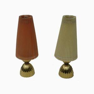 Lámparas de mesa pequeñas, años 50. Juego de 2