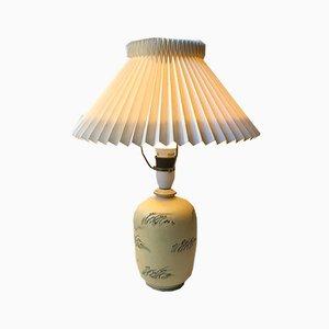 Lámpara de mesa danesa Art Déco de cerámica de Knabstrup, años 30