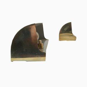 Apliques de latón de Louis Poulsen, años 50. Juego de 2