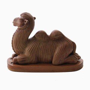 Schwedische Kamel Skulptur von Gunnar Nylund für Rörstrand, 1950er