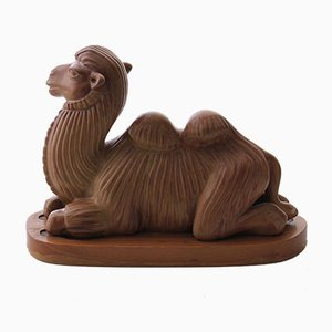 Swedish Camel Sculpture by Gunnar Nylund for Rörstrand, 1950s