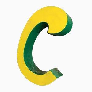 Vintage Letter C Sign