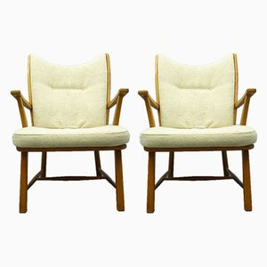 Cerry Wingback Armchairs, 1950s, Set of 2