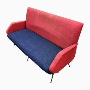 Kleines Italienisches Sofa aus Stoff, 1950er