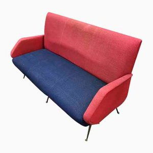 Small Italian Fabric Sofa, 1950s