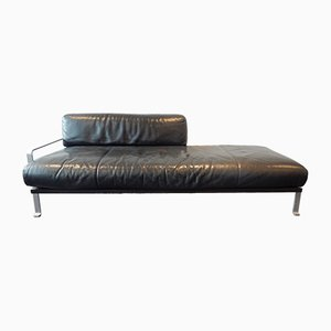 Italian Leather Chaise Lounge by Matteo Grassi, 1980s