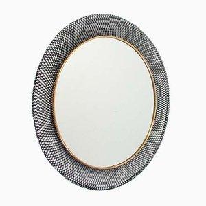 Deutscher Spiegel aus Metall & Messing von Vereinigte Werkstätten Collection, 1950er