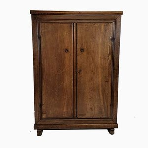 Antique Spanish Oak and Walnut Cupboard