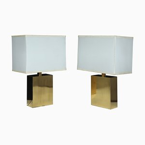 Brass Table Lamps, 1960s, Set of 2