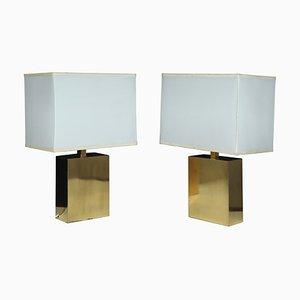 Messing Tischlampen, 1960er, 2er Set