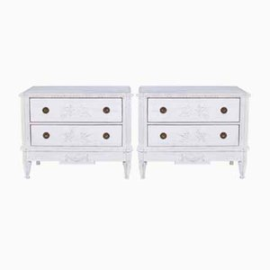 Antique Gustavian Dressers, Set of 2