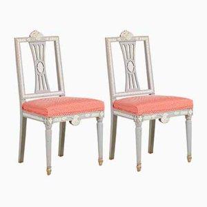 Sedie gustaviane antiche, set di 2