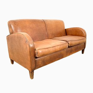 Vintage Leather Sofa, 1960s