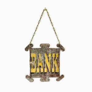 Antikes Bank Schild