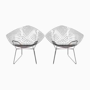 Diamond Chairs by Harry Bertoia for Knoll Inc. / Knoll International, 1990s, Set of 2