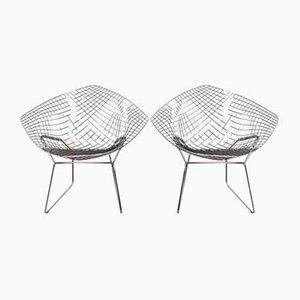 Diamond Stühle von Harry Bertoia für Knoll Inc. / Knoll International, 1990er, 2er Set