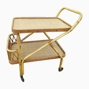 Rattan Bar Trolley, 1960s