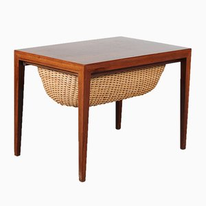 Rosewood Danish Sewing Box by Severin Hansen for Haslev Møbelsnedkeri, 1950s