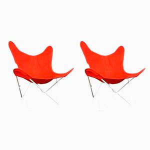 Butterfly Lounge Chairs by Jorge Ferrari-Hardoy for Knoll Inc. / Knoll International, 1950s, Set of 2
