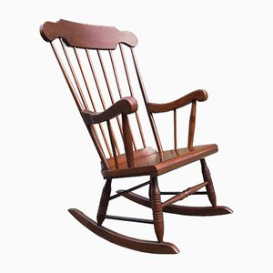 French Wooden Rocking Chair, 1960s