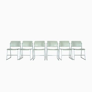 Vintage Model 40/4 Chairs by David Rowland for GF Furniture System, 1970s, Set of 6
