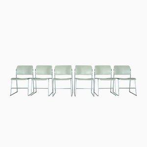 Vintage Modell 40/4 Stühle von David Rowland für GF Furniture System, 1970er, 6er Set
