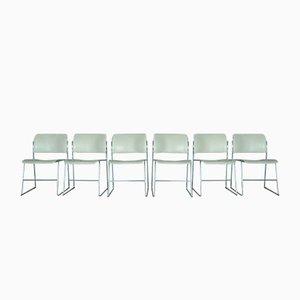 Chaises Modèle 40/4 Vintage par David Rowland pour GF Furniture System, années 70, Set de 6