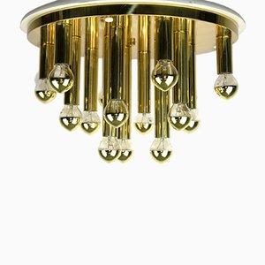 15-armige Deckenlampe von Sölken Leuchten, 1970er