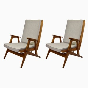 Scandinavian Lounge Chairs, 1950s, Set of 2