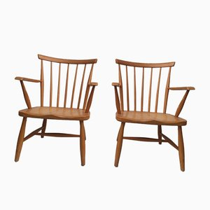 Mid-Century Scandinavian Lounge Chairs, Set of 2