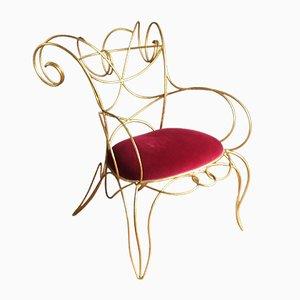 Vintage Skulptur Armlehnstuhl von Cecotti