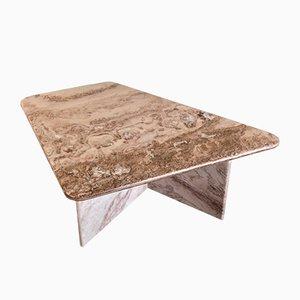 Mid-Century Minimalist Italian Geometric Marble Coffee Table, 1970s