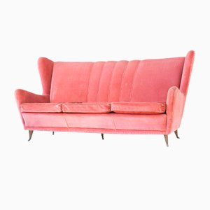 Italian Velvet Sofa by I.S.A. Bergamo, 1950s