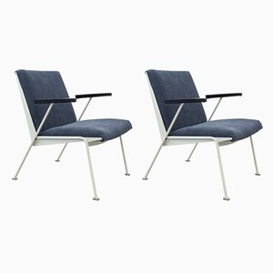 Dutch Armchairs by Wim Rietveld for Ahrend De Cirkel, 1950s, Set of 2