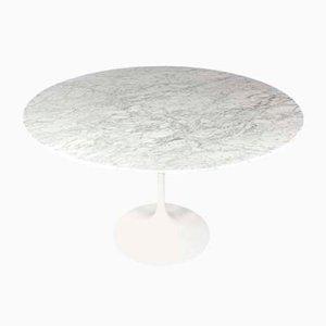 Mesa de comedor Tulip de mármol de Eero Saarinen para Knoll Inc. / Knoll International, años 70