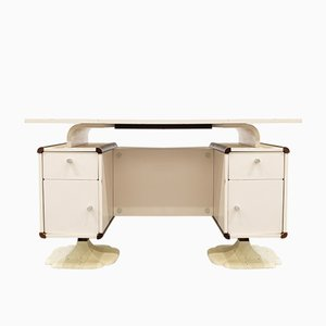 Small French Wooden & Formica Desk, 1970s