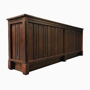 Large Vintage Dutch Pine & Hardwood Sideboard