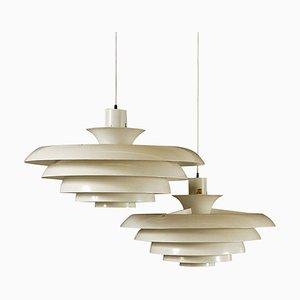 Lámparas de techo suecas modernas de Fagerhult Sweden, años 60. Juego de 2