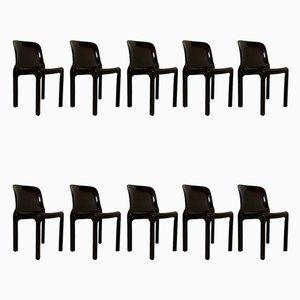Gaudi Armlehnstühle und Selene Stühle Set von Vico Magistretti für Artemide, 1970er