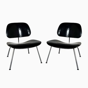 Black LCM Lounge Chairs by Charles & Ray Eames for Vitra, 1990s, Set of 2