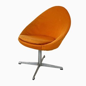 Small Orange Egg Swivel Lounge Chair from Pastoe, 1960s