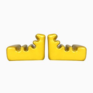 Sillones Karelia en amarillo de Liisi Beckmann para Zanotta, años 70. Juego de 2