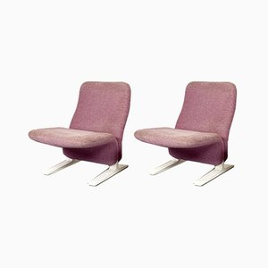 Lilac Concorde Easy Chairs by Pierre Paulin for Artifort, 1960s, Set of 2