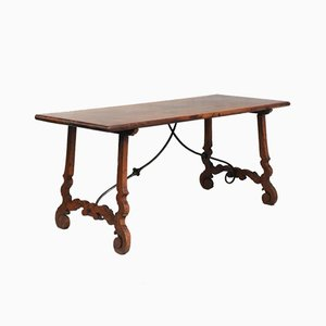 Antique Spanish Walnut Dining Table, 1900s