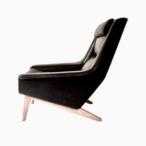 Leather 4410 Lounge Chair by Folke Ohlsson for Fritz Hansen, 1960s