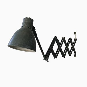 Vintage Industrial Swiss Scissor Wall Lamp from Belmag, 1950s