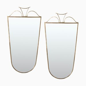 Messing Spiegel von Gio Ponti, 1950er, 2er Set