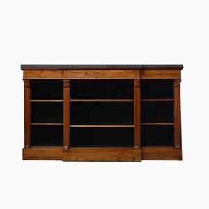 Antikes viktorianisches offenes Bücherregal aus Palisander