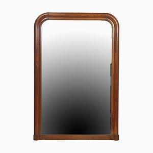 Antiker französischer Spiegel mit Eichenholzrahmen