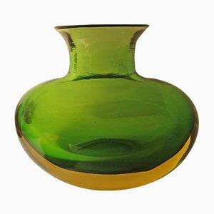 Große Vase von Flavio Poli für Seguso Vetri d'Arte, 1950er